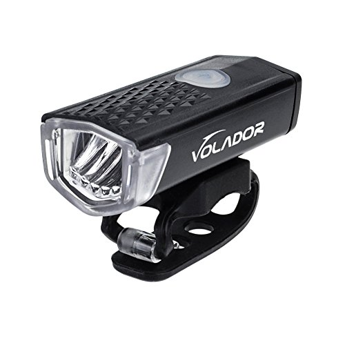 Amazon Lightning Deal 93% claimed: Volador Bicycle Front Light USB Rechargeable Bike Light LED Bicycle Headlight Lamp 300 Lumens, 3 Modes, Wide Beam Angle