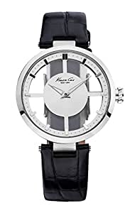Kenneth Cole New York Women's KC2649 Silver Transparent Dial Round Watch