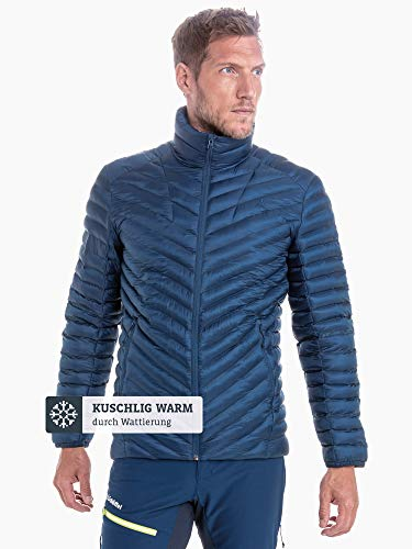 Schöffel Thermo Jacket Val d Isere3, gesteppte Thermojacke mit hochschließendem Kragen, wärmende und atmungsaktive Skijacke Herren, navy peony, 48 2