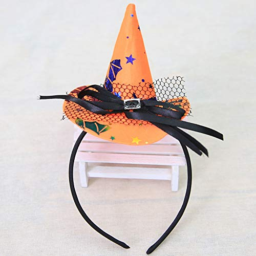 Disposable Party Supplies- Halloween Pumpkin Hat Witch Hat- Fancy Party Costume Cap Party Decor