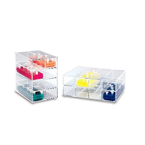 Heathrow Scientific - Acrylic storage racks for 80-place microtube racks - Vertical Orientation