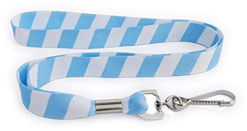 Soft Printed ID Neck Lanyard - Team or School Colorblock (Light Blue - -