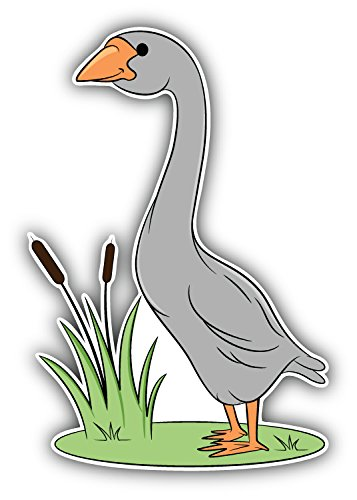 Cartoon Swan Art Decor Bumper Sticker 3'' x 5''