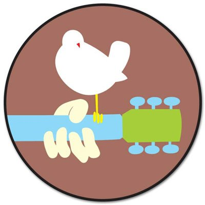 Woodstock Peace & Love Vynil Car Sticker Decal - Select Size -