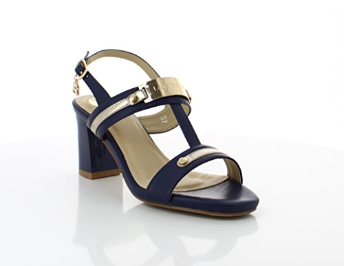Navy Sandales Biagiotti Ouvert Bleu Femme 13 Bout Nina Laura anHF0W77