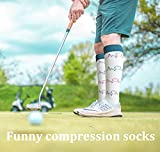 1/3/6/7 Pairs Compression Socks for Women&Men