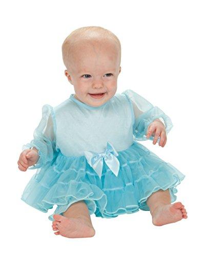 Laura Dare Baby Girls Frozen Ice Princess Elsa Ruffled Jumpsuit, 12m
