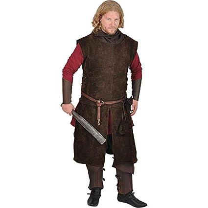 Amazon.com: Mytholon Justus Suede Tabard Medieval Jerkin ...