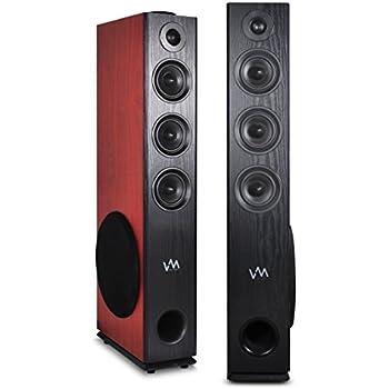 Amazon.com: VM Audio EXAT30 Black/Cherry Floorstanding