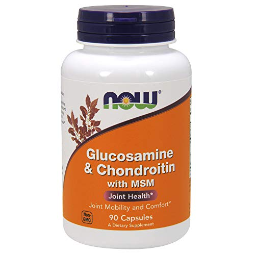 NOW Glucosamine & Chondroitin with MSM 90 Capsules
