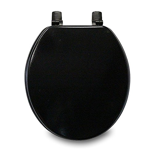 Trimmer Molded Wood Solid Toilet Seats - Black by Trimmer