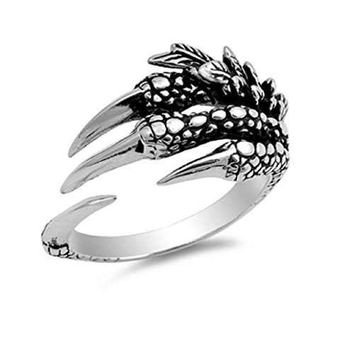 - CloseoutWarehouse Sterling Silver Eagle Claw Fashion Ring Size 7