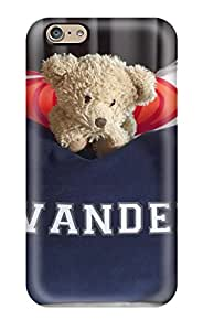 Premium Iphone 6 Case - Protective Skin - High Quality For Navy Blue Pillow Personalized With Childs Name Shown With Teddy Bear