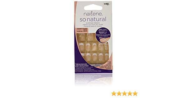 Amazon.com : Nailene So Natural Nail Kit, Short Beige 1 kit : False Nails : Beauty