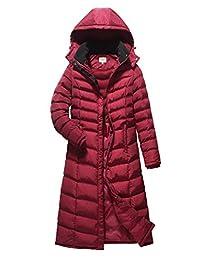 ELORA Women's Full Length Winter Fleece Lined Plus Size Maxi Puffer Coat