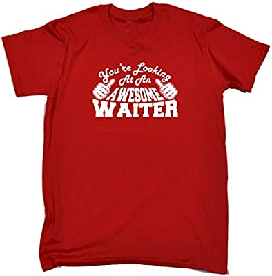 /'This is what an Awesome Waiter looks like/' Birthday Gift Funny T-shirt Tee