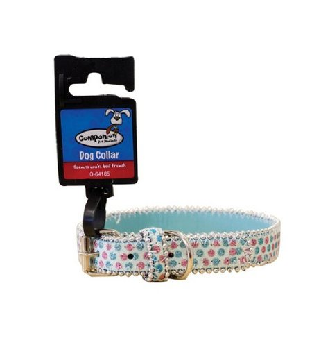 Brand New Sparkly Dog Collar Glitter Bling Bling CREAM BLUE GREY RED 45CM (Blue)