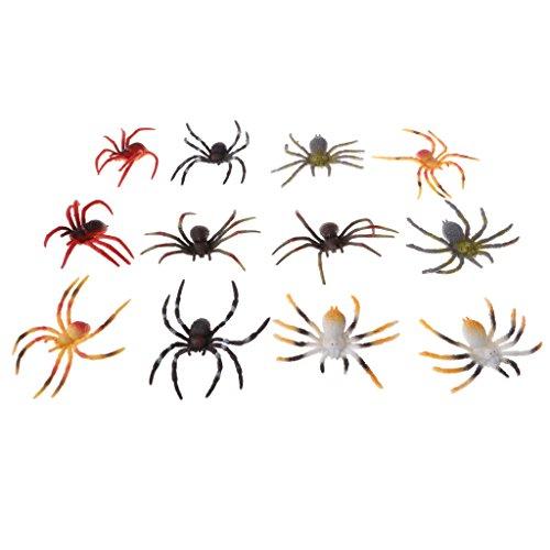 Perfk 全12点入り 子供 クモ 昆虫モデル 品揃え 知育 教育おもちゃ カラフルの商品画像