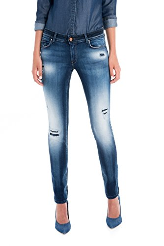 Up Skinny Salsa Pantalon Bleu Premium Wonder Push dlavage UERq7