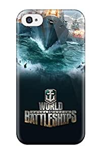 New World Of Battleships Tpu Case Cover, Anti-scratch AmandaMichaelFazio Phone Case For Iphone 4/4s