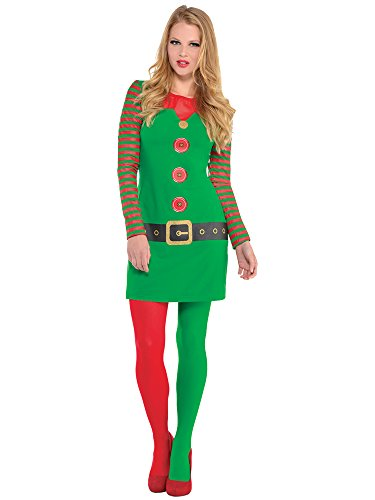[Child's Santa's Helper Christmas Elf Nativity Fancy Dress Party Costume (Medium (8-10))] (Childrens Santas Helper Costume)