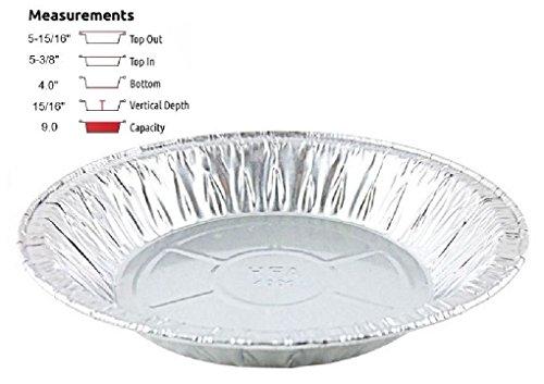 6 inch Aluminum Foil Pie Pan 15/16 inch Deep - Disposable Tart Tin Plates