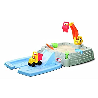 Little Tikes Outdoor Toys Featuring Big Digger Sandbox Includes Dump Truck and Other Accessories, Multicolored, Great for Kid's Activity Play: Toys & Games