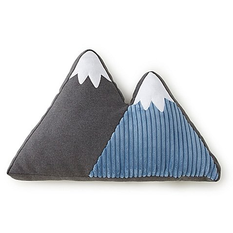 Levtex Baby Trail Mix Mountain Throw Pillow ()