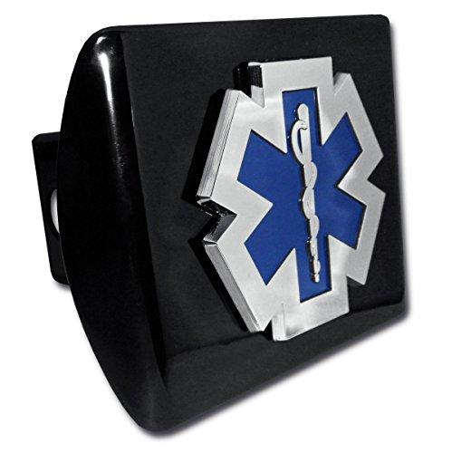 Elektroplate EMS Emblem Black All Metal Hitch Cover
