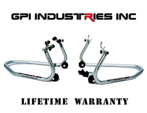 (Yamaha YZF R1 R1s R1m R6 R6s R3 FZ1 FZ6 FZ9 FZ09 FZ10 FZ07 MT07 MT09 MT10 GP Pro Series Universal Front and Rear Motorcycle Sportbike Paddock Race Stands Lifts by GPI Industries)