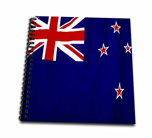 3dRose db_28277_2 New Zealand Flag Memory Book, 12 by 12-Inch