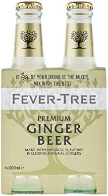 Fever Tree Premium Ginger Beer Pack de 4 Botellas 20cl - 4800 ml: Amazon.es: Alimentación y bebidas