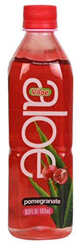 - Viloe Aloe Drink, Pomegranate, 16.9 Fluid Ounce (Pack of 24)