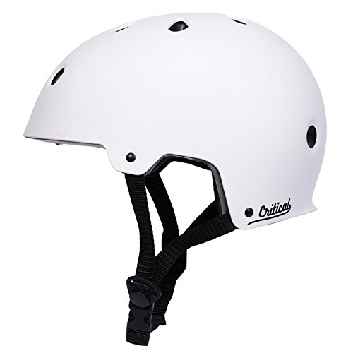 Critical Cycles Classic Commuter Bike/Skate/Multi-Sport CM-2 Helmet with 11 Vents, Matte White, Small: 51-55 cm / 20