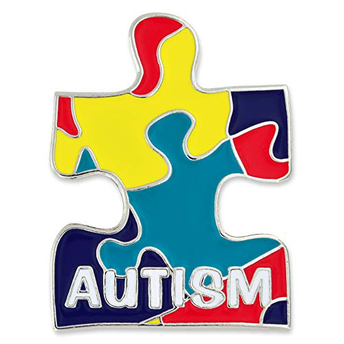 - PinMart's Autism Awareness Puzzle Piece Enamel Lapel Pin with a Magnetic Back