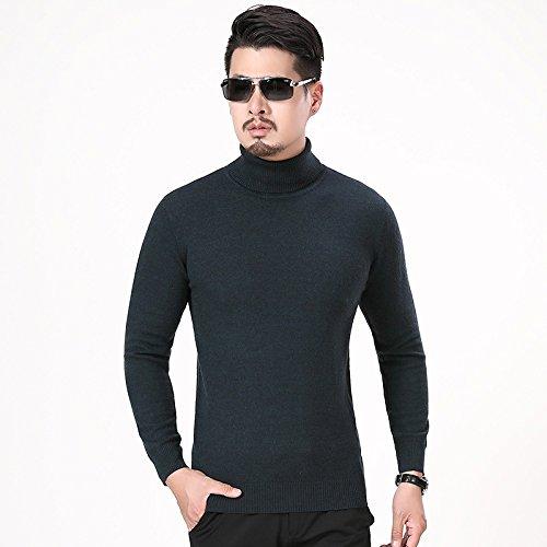 Jdfosvm männer - Hemd und Pullover Kragen ärmel Kopf männlichen langärmelige Pullover schlanke männer Mode,dunkel,l