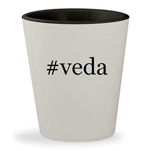 Price comparison product image #veda - Hashtag White Outer & Black Inner Ceramic 1.5oz Shot Glass