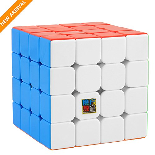 Speed Cube,UROPHYLLA Speed Magic Cube 4x4x4 Stickerless Smooth Cube Tension can be adjusted Super-durable with Vivid Colors includes Game Manual Best Gift for Children