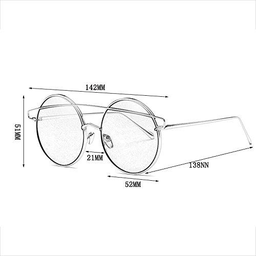 Marco Sol Hombre Sol Película de de Moda de Metal Colorida reflexivas Gafas Retro Gafas para Coloridas A de Gafas Sol Reflectante para Gafas B Color HqwIqz6xY4