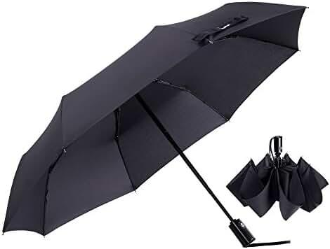 Glamore Travel Umbrellas - Maximum Protection Travel Umbrella 42 Inch Canopy Wind/rain Resistant -Sturdy, Durability - Auto Open/close