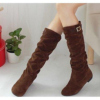 Schwarz Stiefel Stiefel Komfort Winter Wuyulunbi Mode Für Schuhe Gelb Casual Damen Dunkelbraun PwfqYxCT4
