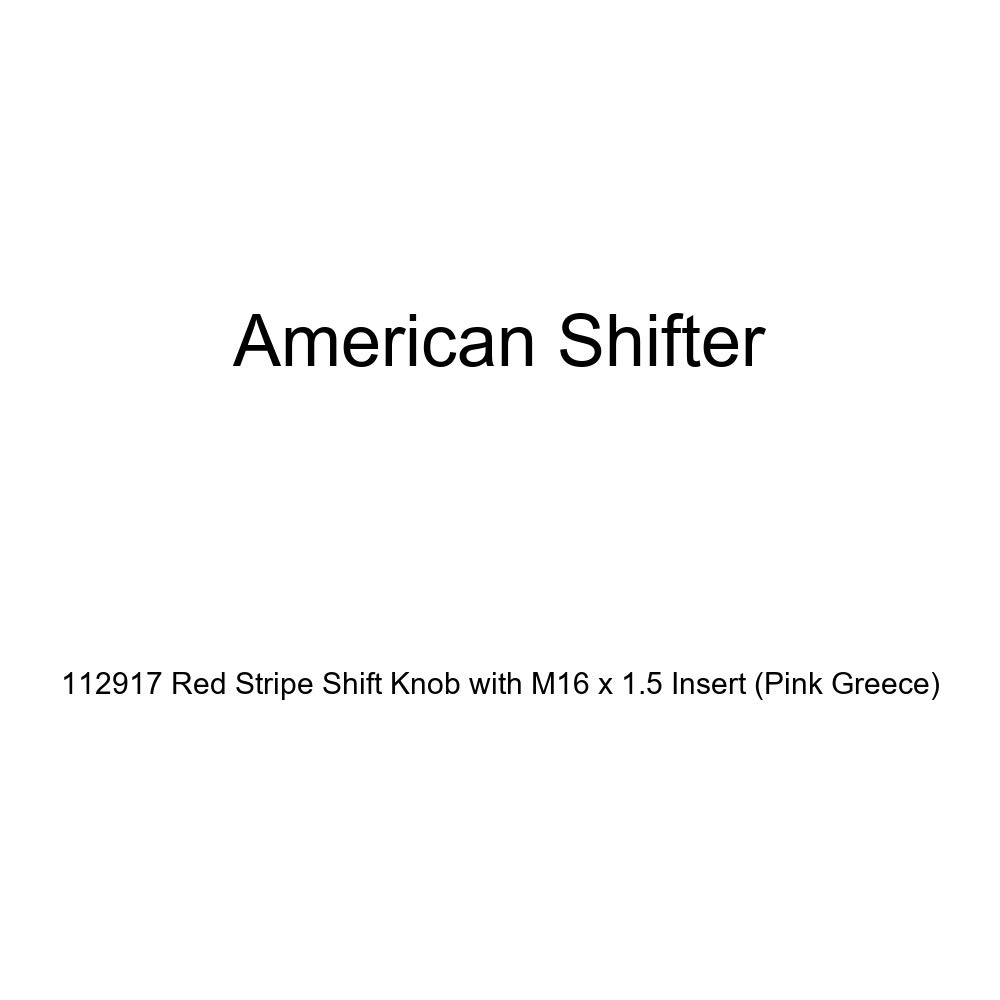 American Shifter 4387 Stripe Shift Knob with M16 x 1.5 Insert Red Shift Pattern Fcking Fast Style 20n