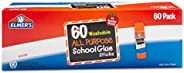 Elmer's All Purpose School Glue Sticks, Washable, 0.24 Ounce Glue Sticks for Kids | School Supplies | Scra