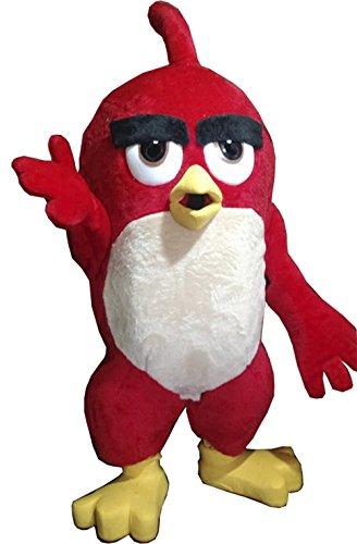 Handmade Red Angry Bird Mascot Costume Adult Costume (Mascot Costume Rentals)