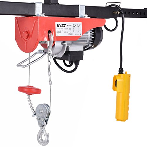 Goplus Lift Electric Hoist Garage Auto Shop Electric Wire Hoist Overhead Lift w/ Remote Control (440LBS) (Ac Winch)