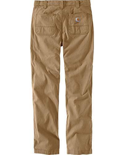 Carhartt Men's Rugged Flex Rigby Straight Fit Pant, Dark Khaki, 32W X 34L (Ideals Landscaping)