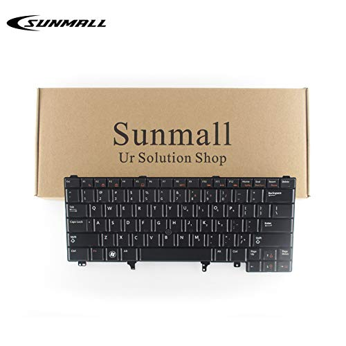 SUNMALL Replacement Keyboard with Backlit Compatible with Dell Latitude E5420 E5430 E6220 E6320 E6330 E6420 E6430 E6440 Series US Layout (with Pointer Stick)