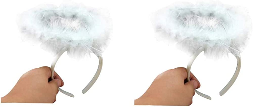 Angel Halo Headband,Halloween Costume Accessory for Kids Adult 2 Pack