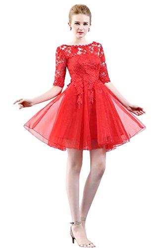 Rosso Vestido Mujer Rojo Vimans Para 46 Trapecio wXdggqz