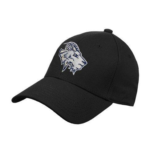 St Edwards Black Heavyweight Twill Pro Style Hat 'Primary Mark'